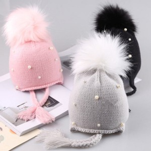 Kapa za djevojčice s biserima i krznenim coflekom