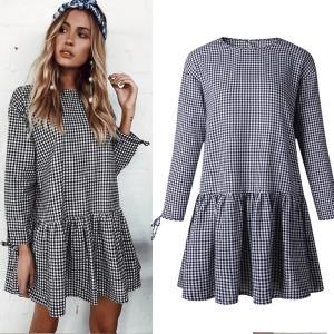 Mini haljina s volanom i vezicama