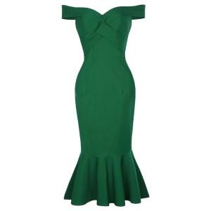Elegantna midi haljina sirena kroja