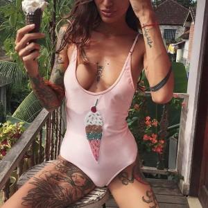 Jednodijelni kupaći kostim sa sladoledom