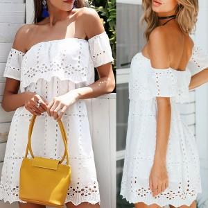 Mini vintage haljina otvorenih ramena