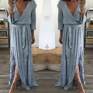 Duga haljina s uzorkom košnice