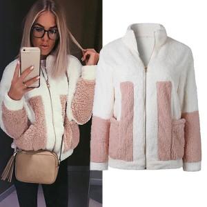 Medo dvobojna čupava jakna