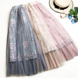 Unikatna suknja od tila s uvezenim cvjetovima