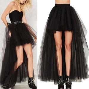 Luksuzna asimetrična punk suknja od tila
