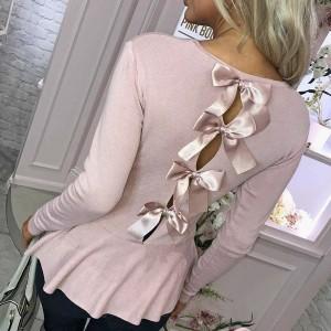 Majica dugih rukava s mašnama na leđima