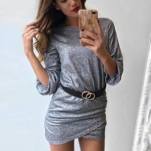 Mini nabrana glitter haljina