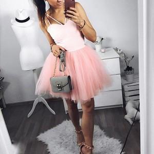 Mini haljina zvono kroja od tila