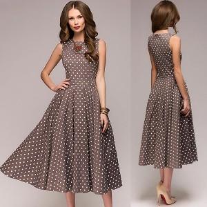 Midi vintage haljina sa točkicama