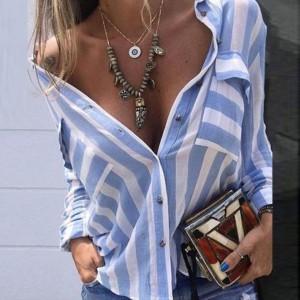 Prugasta košulja sa džepovima