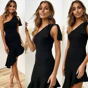 Asimetrična haljina na jedno rame