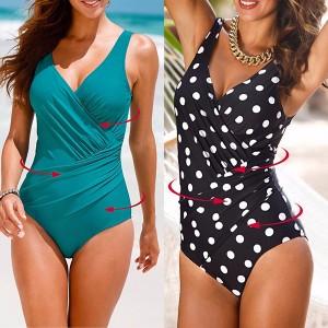 Jednodijelni kupaći kostim s efektom vizualnog smanjenja obujma tijela