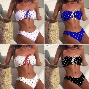 Dvodijelni točkasti kupaći kostim *limitirana kolekcija*