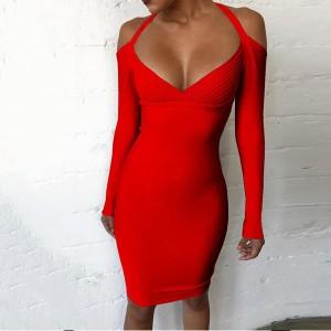 Mini bandage haljina otvorenih ramena