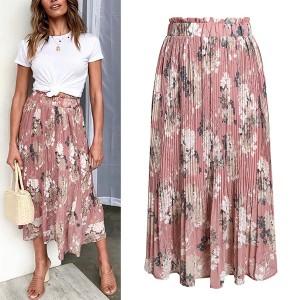 Midi plisirana boho suknja *limitirana kolekcija* 2 boje standardni M