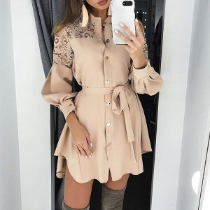 Mini košulja haljina s čipkom *limitirana kolekcija*