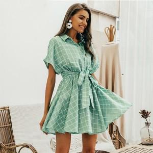 Mini karirana košulja haljina na vezanje *limitirana kolekcija*