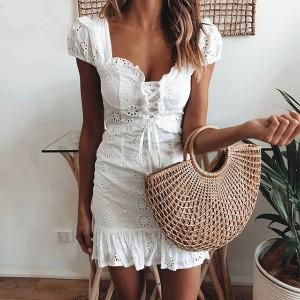Mini vintage vezena haljina s korzet vezicama *limitirana kolekcija*