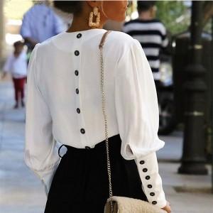 Košulja zvono rukava na dugmad