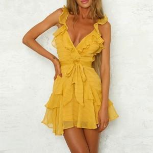 Mini prugasta haljina na volane *limitirana kolekcija*