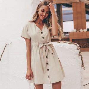 Mini lanena haljina zvono kroja *limitirana kolekcija*