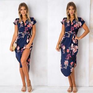 Midi haljina s prorezima na vezanje oko struka 7 modela