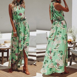 Duga asimetrična haljina na cvjetove
