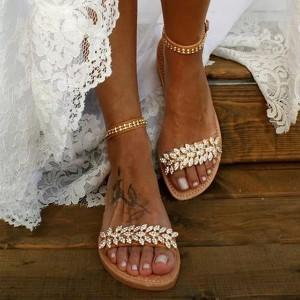Vintage niske sandale s kristalima limitirana kolekcija