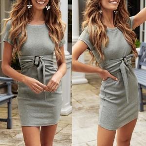 Mini rebrasta haljina s remenom *limitirana kolekcija*