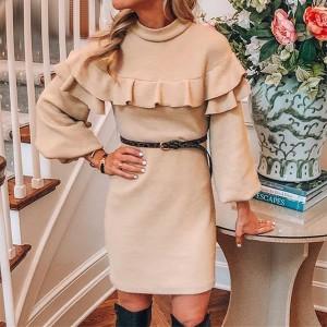 Mini haljina povišenog ovratnika s volanima *limitirana kolekcija*