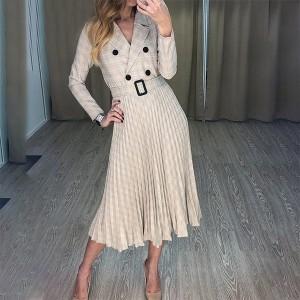 Midi blazer plise haljina s remenom *limitirana kolekcija*