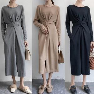 Midi haljina sa strateški postavljenim remenom u struku *limitirana kolekcija*