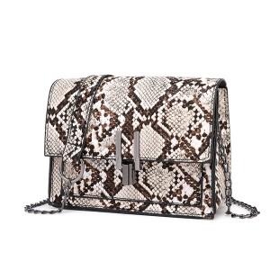 Mala torbica zmijskog uzorka s lancem