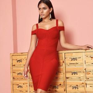 Luksuzna mini bandage haljina otvorenih ramena *premium kvaliteta*