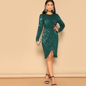 Luksuzna preklopna haljina na šljokice *limitirana kolekcija*
