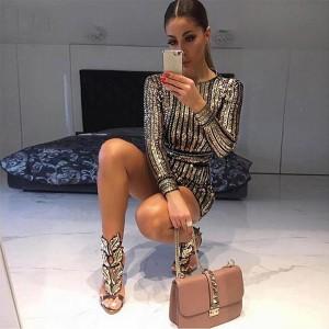 Luksuzna mini haljina na šljokice s remenom *premium kvaliteta*