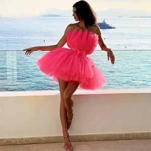 Mini tutu haljina sa satenskom mašnom