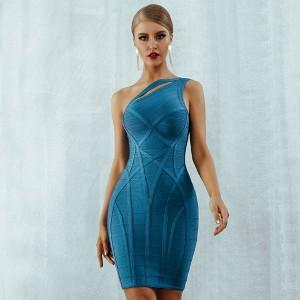 Luksuzna mini bandage haljina na jedno rame *premium kvaliteta*
