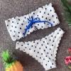 bijela s plavim vezicama