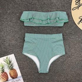 Retro kupaći kostim s topićem na prugice 6 BOJA
