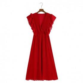 Midi plisirana haljina na volane 3 boje *limitirana kolekcija*