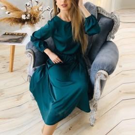 Midi elegantna haljina satenastog izgleda 3 boje