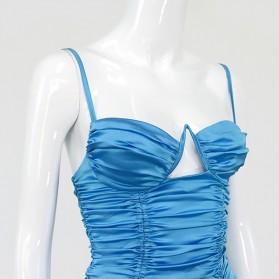 Luksuzna mini haljina od satena s naborima 2 BOJE *Limitirana kolekcija*