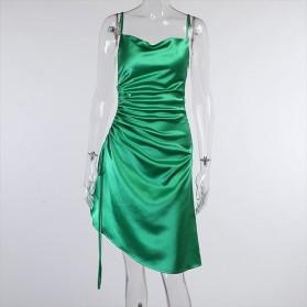 Elegantna haljina od satena s podesivom duljinom 3 BOJE