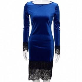 Baršunasta midi haljina s čipkom