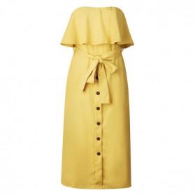 Mini haljina otvorenih ramena s volanom
