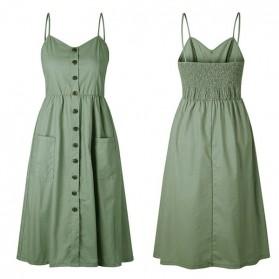 Safari zelena midi haljina s dugmadi