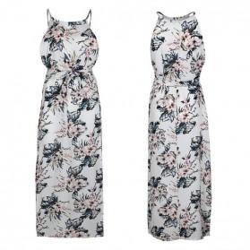 Duga cvjetna haljina s prorezom