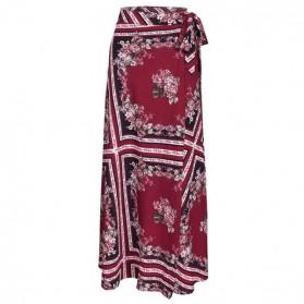 Duga boho cvjetna suknja na preklop