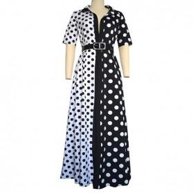 Dvobojna duga haljina s točkicama